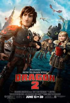 Big how to train your dragon 2 poster