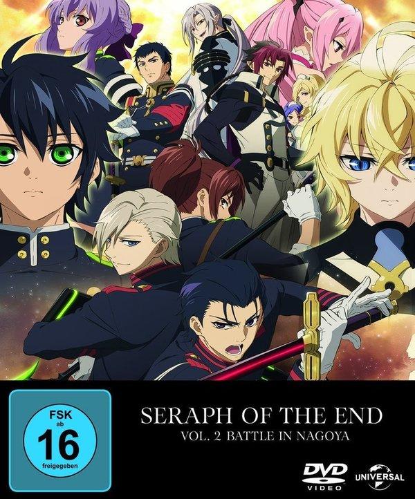 """Gewinnt eine DVD oder BD + Charakterkarte zu """"Seraph of the End: Battle in Nagoya Vol. 2"""""""