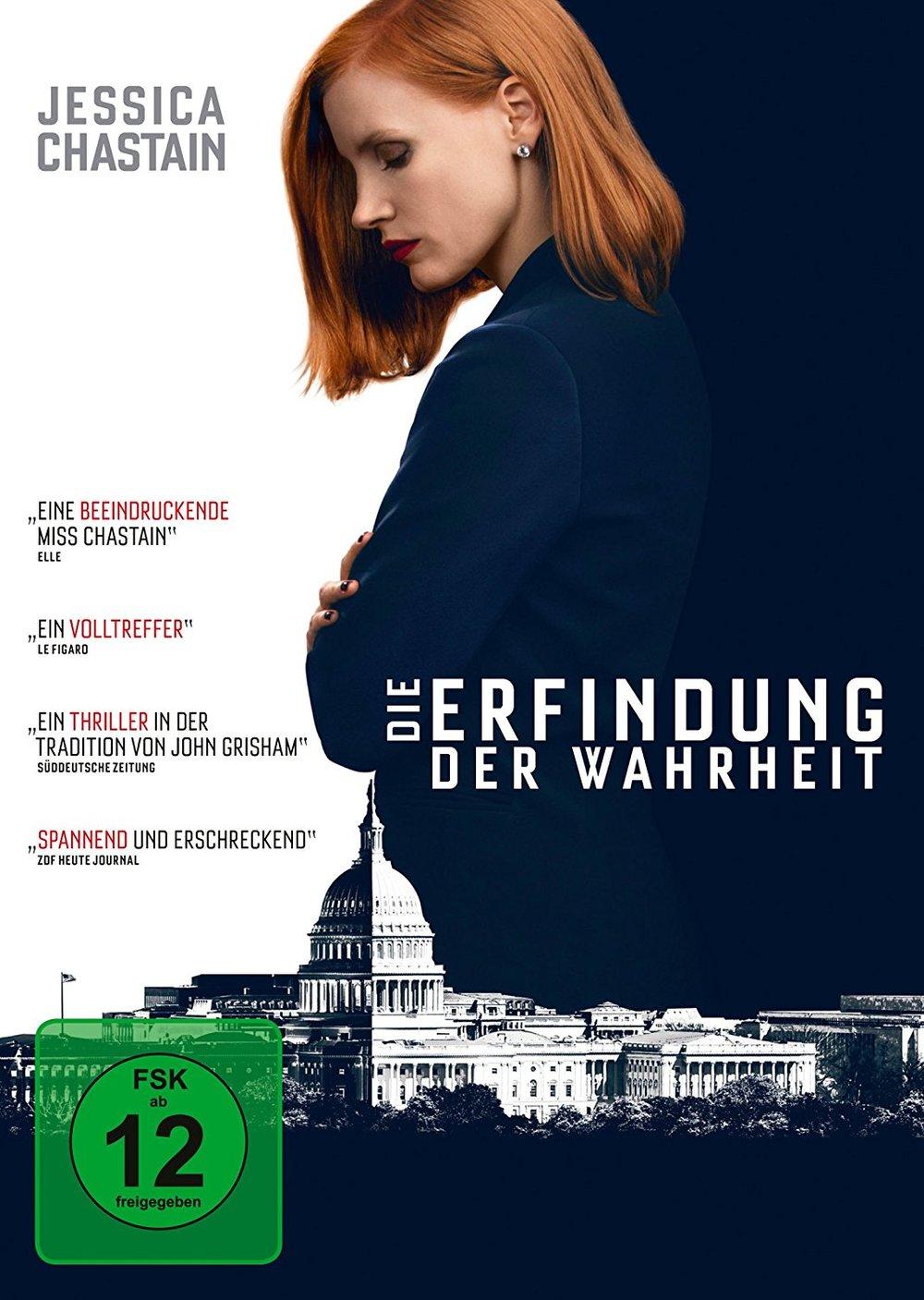 """Wir verlosen """"Die Erfindung der Wahrheit"""" mit Jessica Chastain auf DVD und BD"""