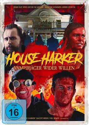 """Wir verlosen den Horror-Spaß """"House Harker - Vampirjäger wider Willen"""" auf DVD und BD und legen noch ein T-Shirt oben drauf"""