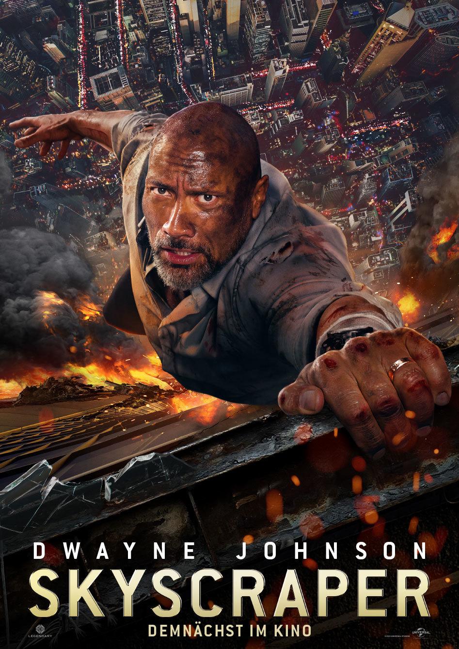 """Dwayne Johnson in Action: Zum Kinostart von """"Skyscraper"""" verlosen wir ein tolles Fan-Paket"""
