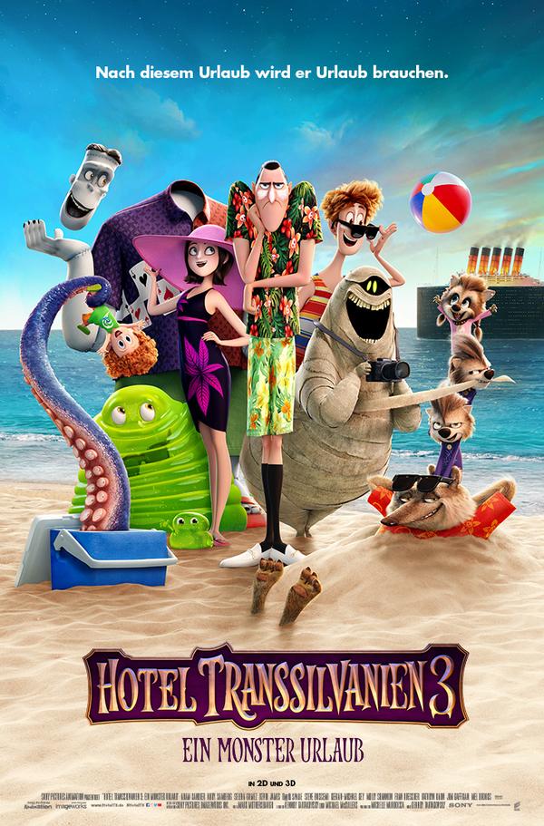 """Monster auf großer Fahrt: Zum Kinostart von """" Hotel Transsilvanien 3 - Ein Monster Urlaub"""" verlosen wir ein tolles Fan-Paket"""