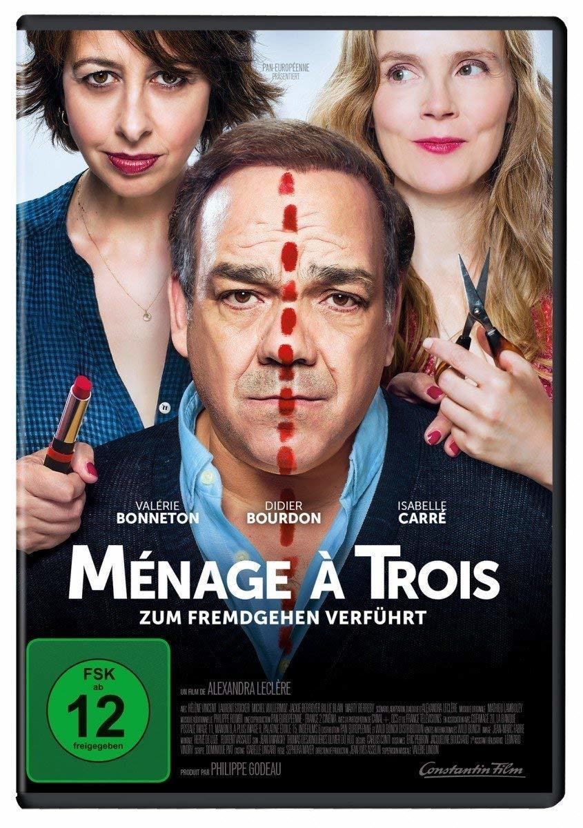 """Eine schwierige Dreiecksbeziehung: Wir verlosen zur französischen Komödie """"Ménage à trois - Zum Fremdgehen verführt"""" eine DVD"""