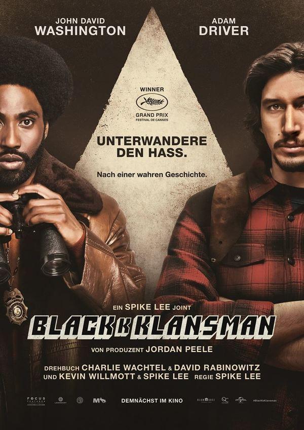 """Undercover im Ku-Klux-Klan: Zum Kinostart von """"BlacKkKlansman"""" verlosen wir die Kinoplakate"""