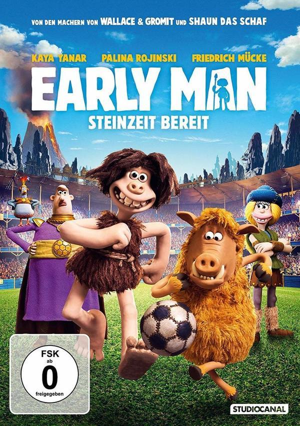 """Die Erfindung des Fußballs: Wir verlosen den Knetspaß """"Early Man - Steinzeit bereit"""" auf DVD oder BD"""