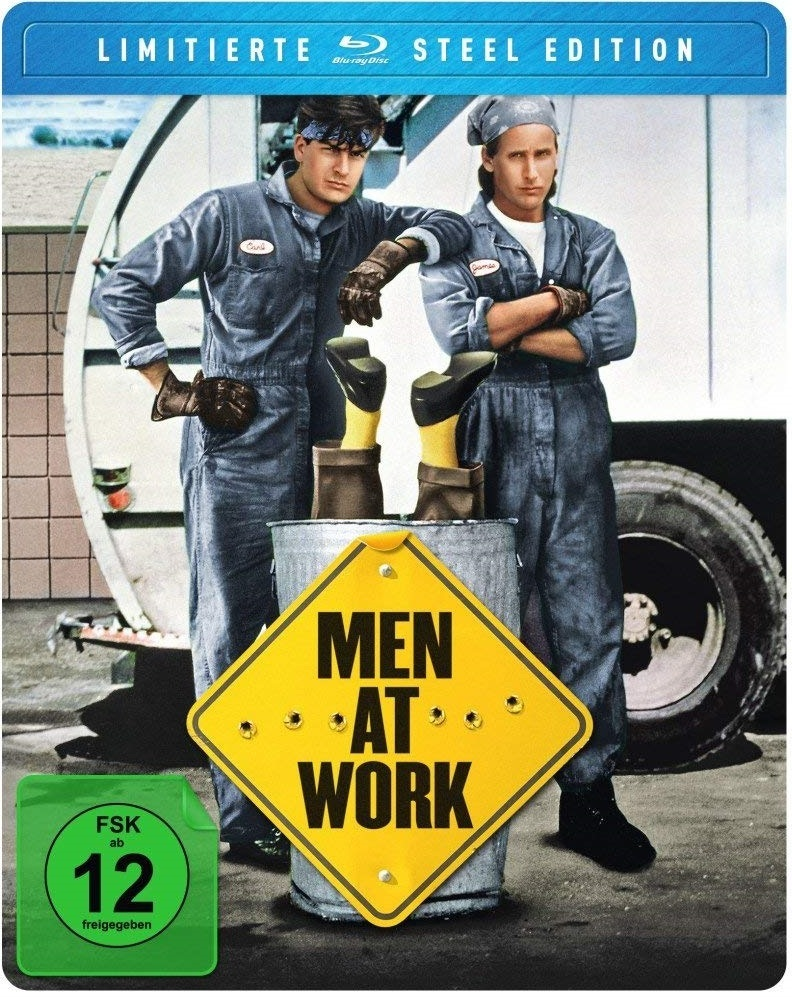 "Charlie Sheen als Müllmann: Wir verlosen die Kultkomödie ""Men at Work"" auf BD (Limited FuturePak Steel Edition)"
