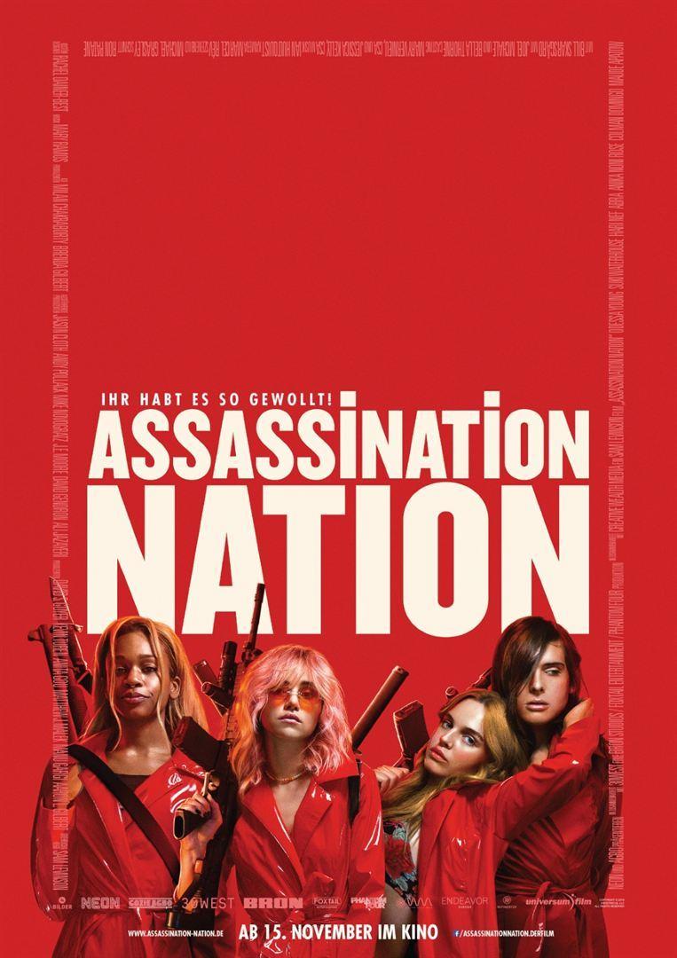 """Blut und Chaos: Wir verlosen zum Kinostart von """"Assassination Nation"""" tolle Fan-Pakete"""