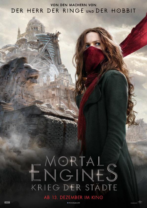 """Von Produzent Peter Jackson: Zum Kinostart von """"Mortal Engines: Krieg der Städte"""" verlosen wir tolle Fan-Pakete"""