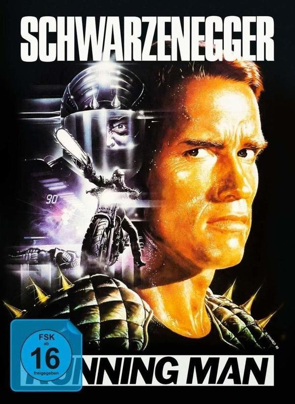 """Wir verlosen """"Running Man"""" mit Schwarzenegger als Mediabook in der Limited Retro-Edition VHS-Design"""