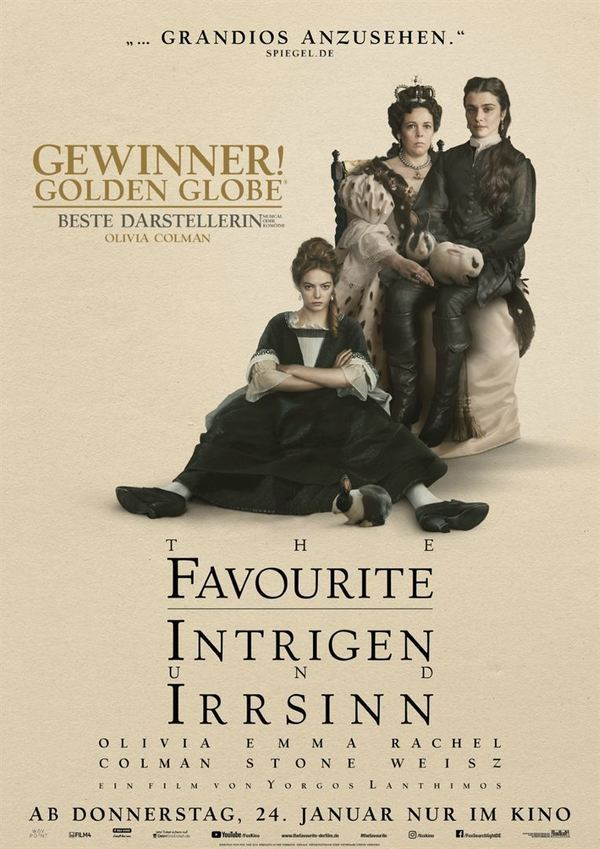 """Ein königlicher Spaß: Zum Kinostart von """"The Favourite - Intrigen und Irrsinn"""" verlosen wir Fan-Pakete"""