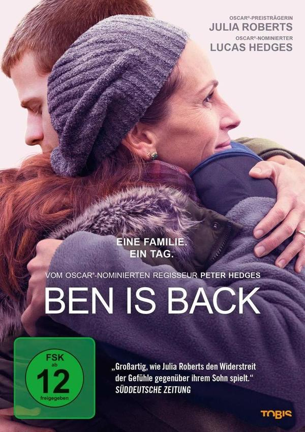 """Eine Familie, ein Tag: Wir verlosen das Drama """"Ben is Back"""" mit Julia Roberts auf DVD oder BD"""