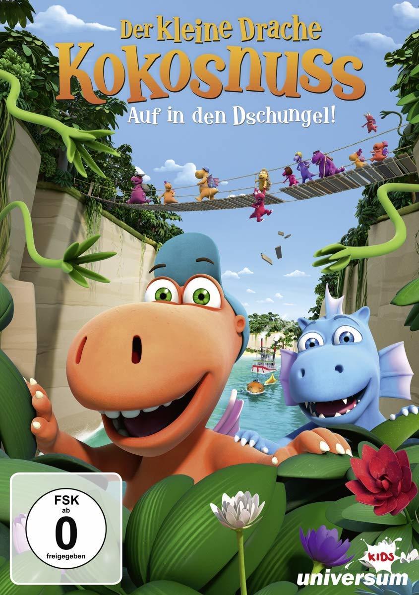 """Dschungel-Abenteuer: Zum Heimkinostart von """"Der kleine Drache Kokosnuss - Auf in den Dschungel!"""" verlosen wir ein tolles Fan-Paket"""