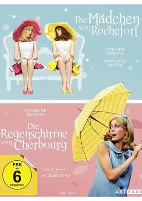 """Jacques Demy im Doppelpack: Wir verlosen die Klassiker """"Die Regenschirme von Cherbourg"""" & """"Die Mädchen von Rochefort"""" als BD Doppelpack"""