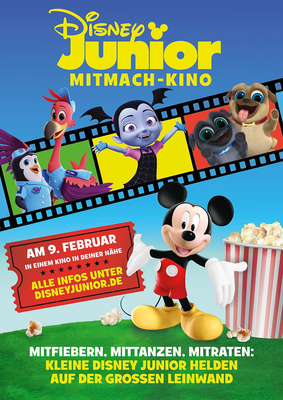 Das Disney Junior Mitmach-Kino: Gewinnt zum Start der neunten Runde ein tolles Überraschungspaket