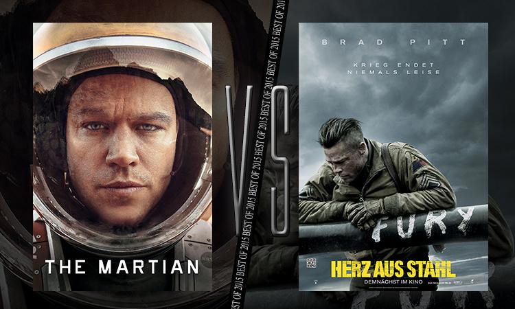 Duell #11: Der Marsianer – Rettet Mark Watney vs. Herz aus Stahl