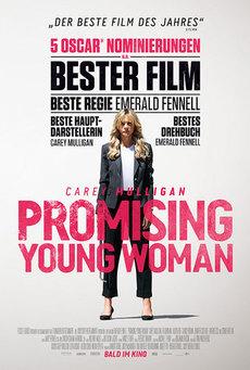 Big promising young woman plakat