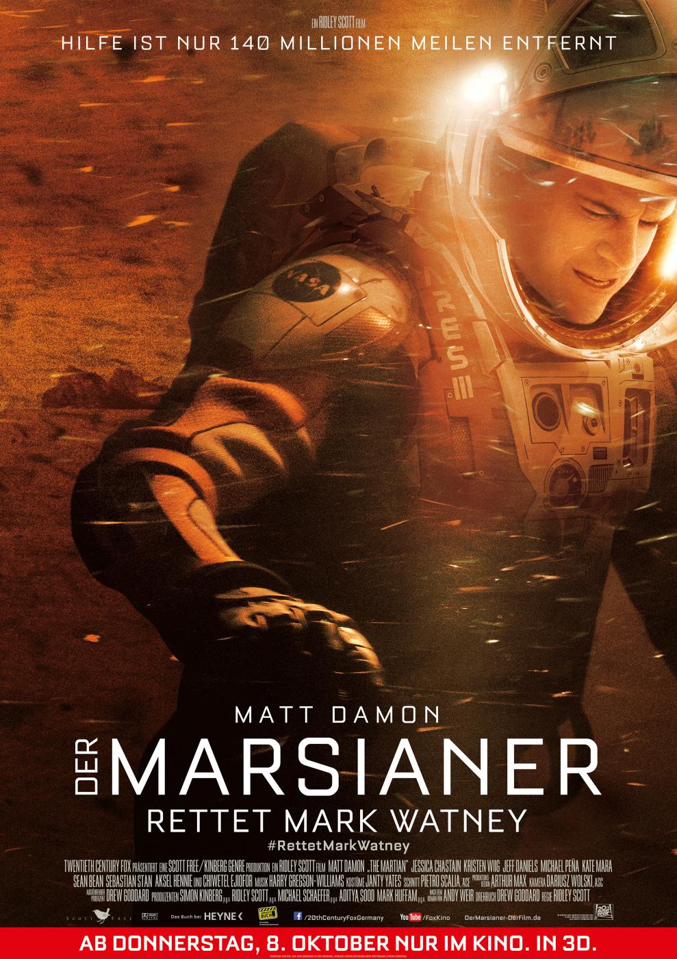 """Gewinnspiel: Gewinnt ein Fan-Paket zum Sci-Fi-Abenteuer """"Der Marsianer - Rettet Mark Watney"""""""