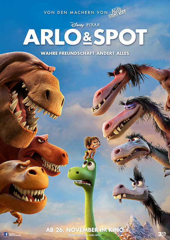 """Gewinnspiel: Gewinnt ein Fan-Paket zum nächsten Disney-Pixar Streich """"Arlo & Spot"""""""