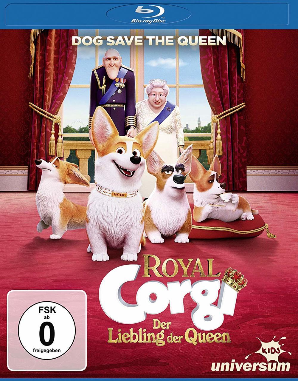 """Dog Save the Queen: Wir verlosen den spaßigen """"Royal Corgi - Der Liebling der Queen"""" auf BD"""