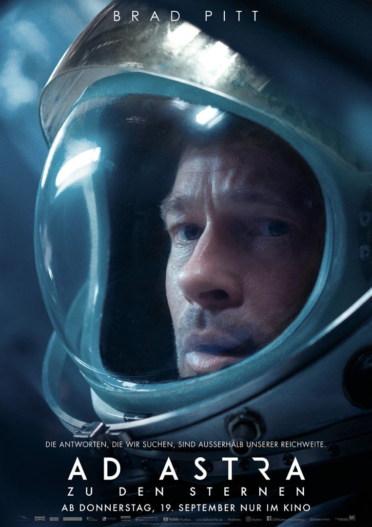 """Die Wahrheit liegt in den Sternen: Wir verlosen zum Start von """"Ad Astra - Zu den Sternen"""" Freikarten sowie das Poster"""