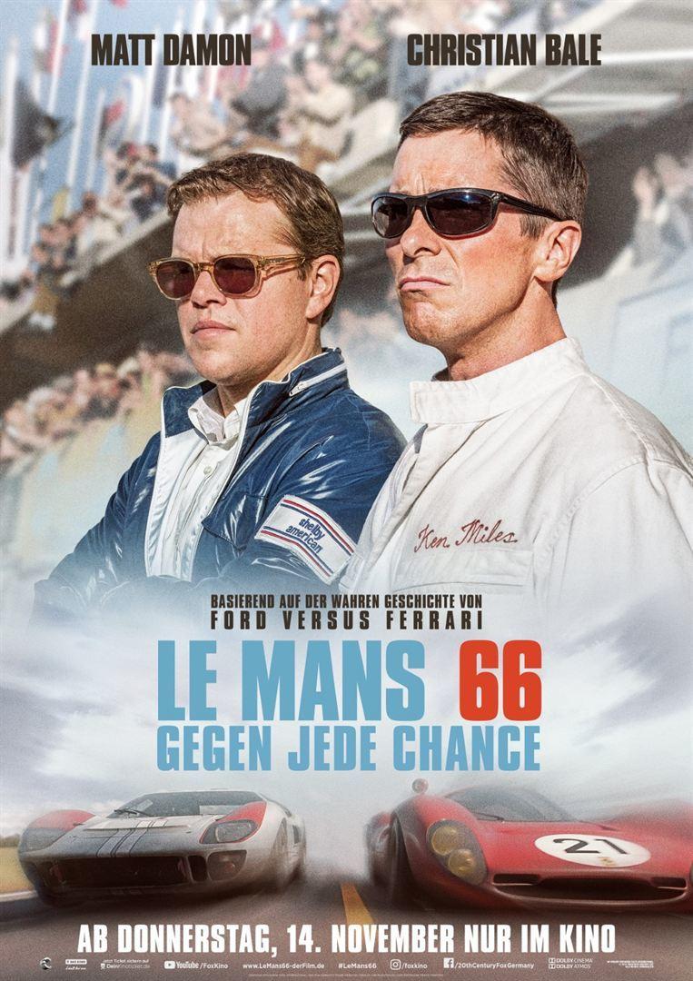 """""""Le Mans 66: Gegen jede Chance"""": Wir verlosen Freikarten und Poster zum neuen Film mit Matt Damon und Christian Bale"""