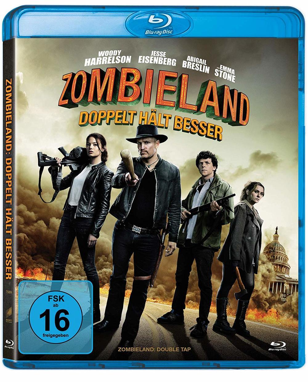 """Wir verlosen den Überlebens-Lehrfilm """"Zombieland: Doppelt hält besser"""" auf BD"""