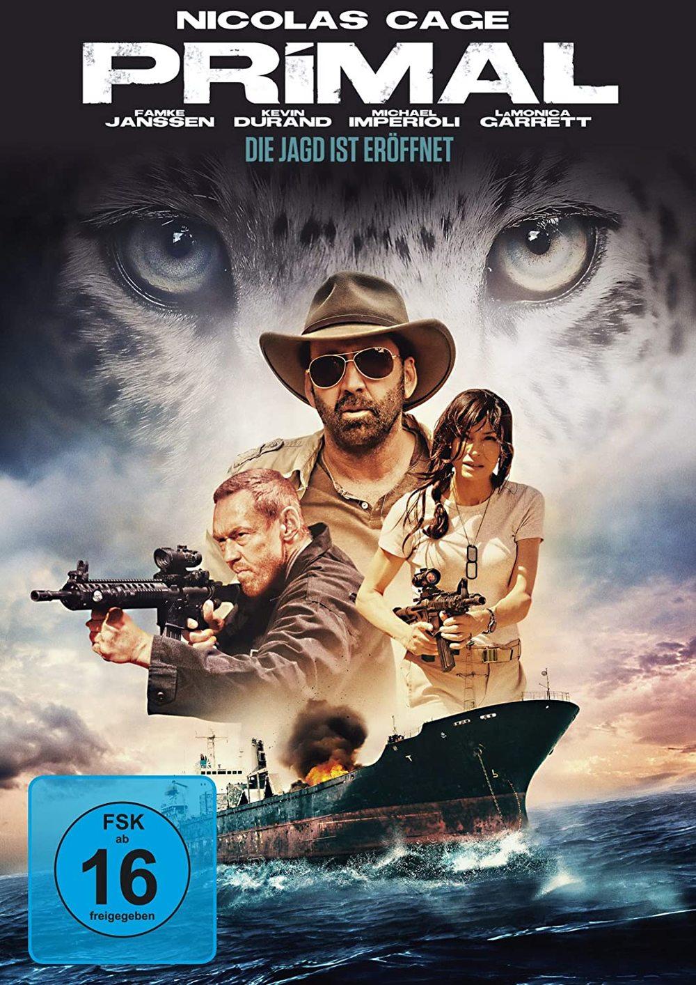 """Nicolas Cage jagt Raubtiere auf hoher See: Wir verlosen """"Primal - Die Jagd ist eröffnet"""" auf DVD und BD"""