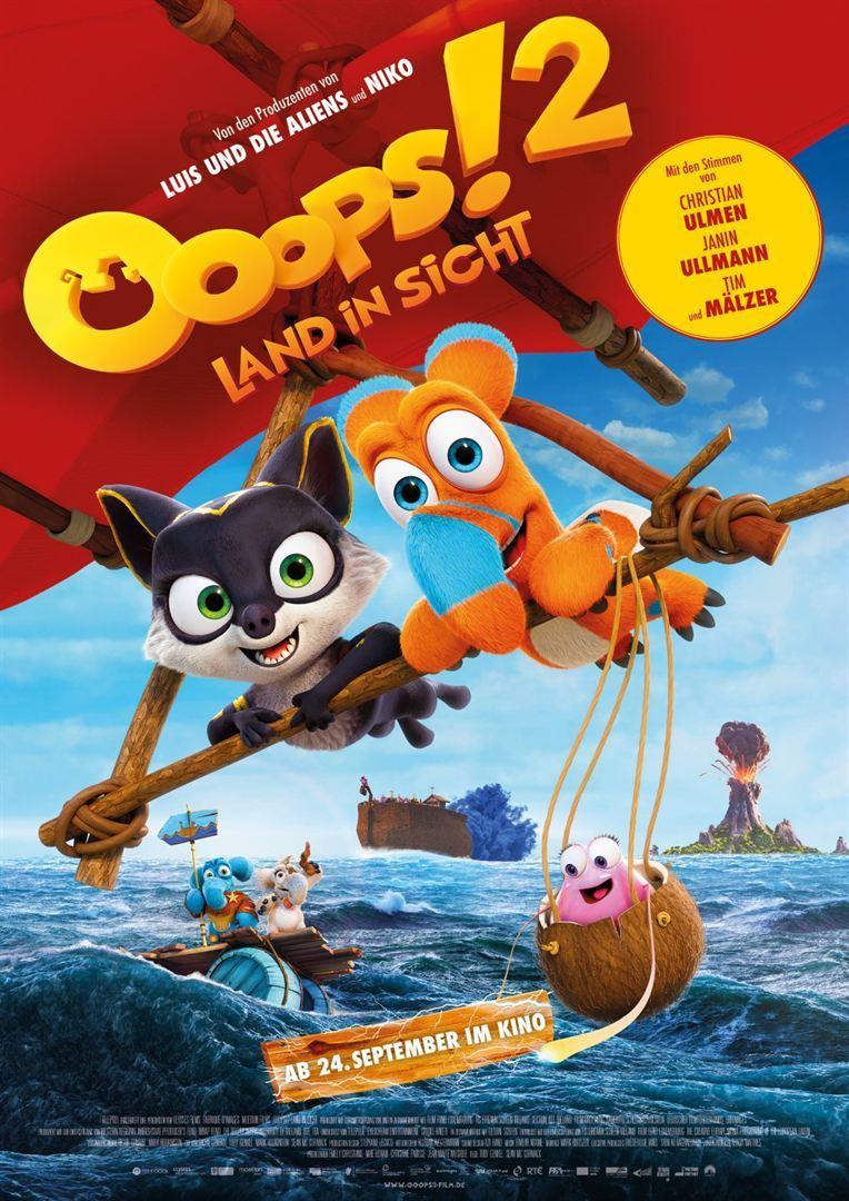 """Zum Kinostart des Animationsspaß """"Ooops! 2 - Land in Sicht"""" verlosen wir ein Fan-Paket inkl. Freikarten und Hörbuch"""