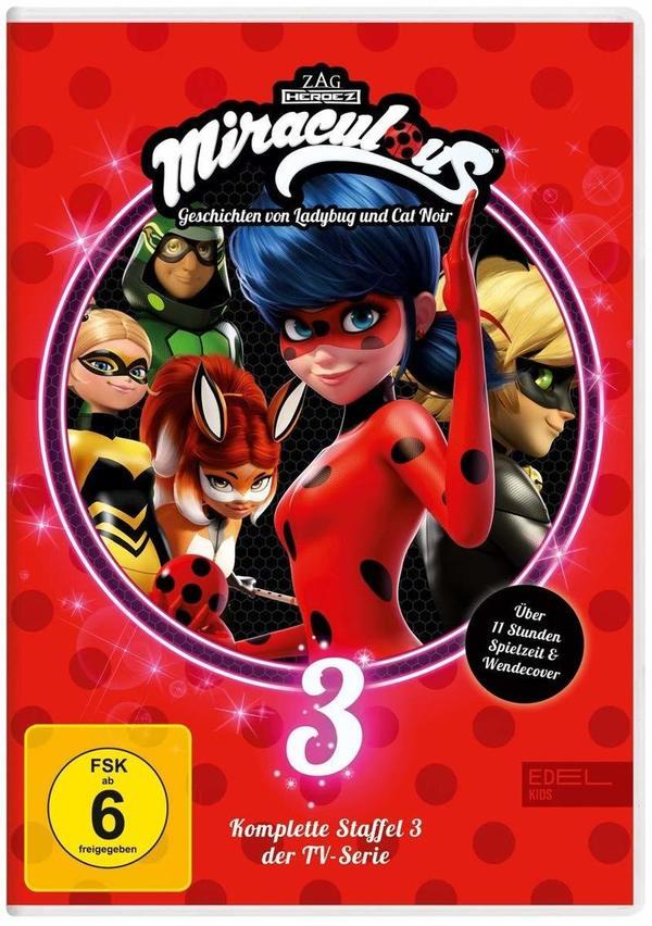 """Wir verlosen die komplette dritte Staffel von """"Miraculous - Geschichten von Ladybug und Cat Noir"""" auf DVD"""