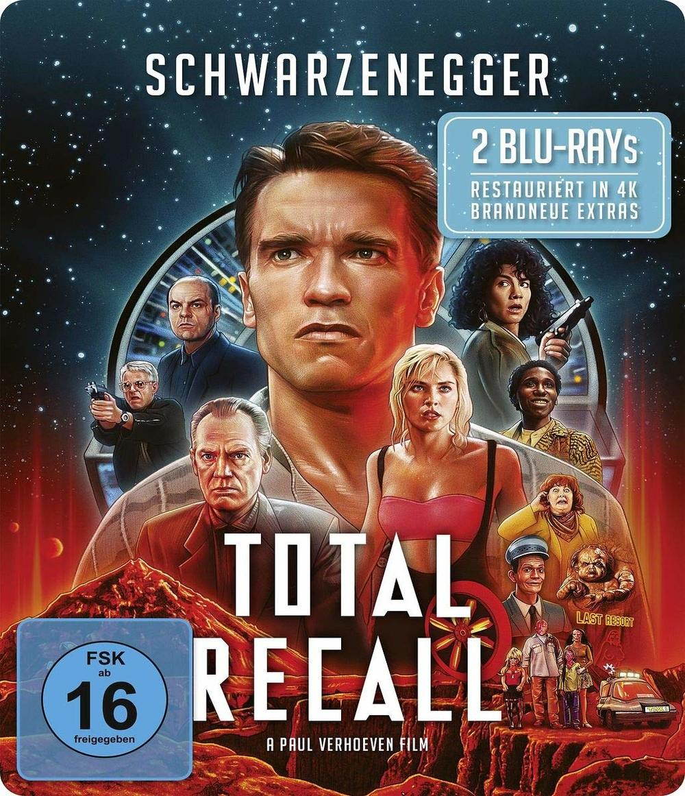 """Meisterwerk mit Arnie im neuen Glanz: Wir verlosen """"Total Recall"""" als  4K- und BD-Steelbook"""