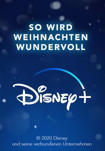 Weihnachtszeit ist Disney+ Zeit: Passend zu den weihnachtlichen Film- und Serienhighlights auf Disney+ verlosen wir tolle Fan-Pakete