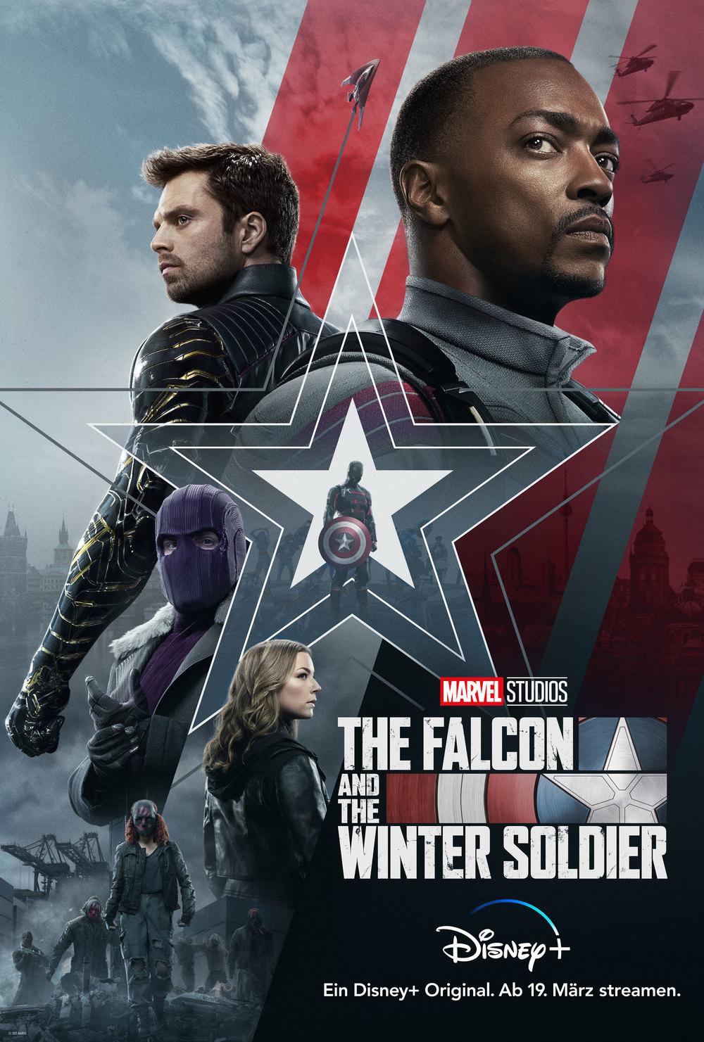 """Zum Start der neuen MCU-Serie """"The Falcon and the Winter Soldier"""" auf Disney+ verlosen wir Fan-Pakete"""