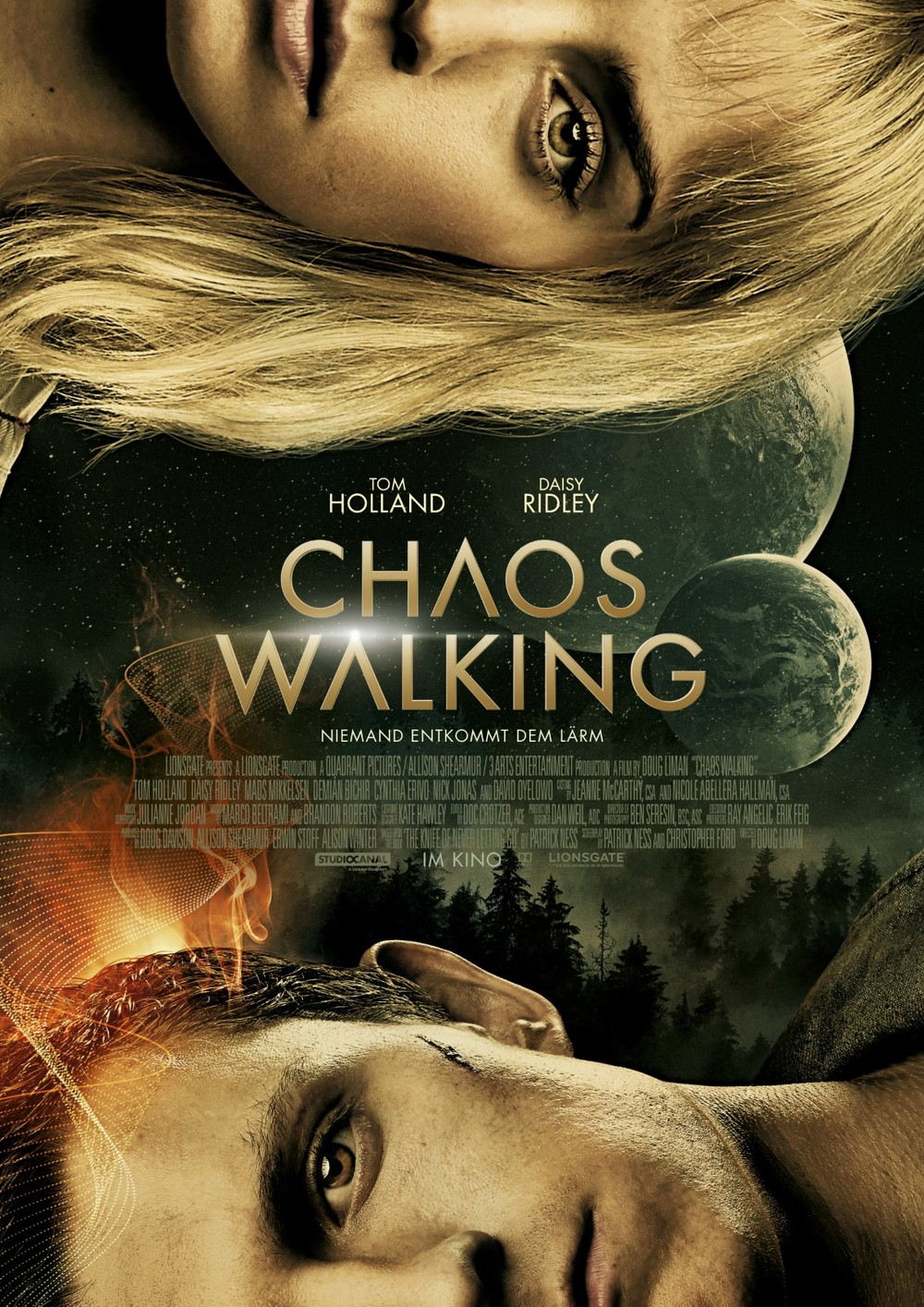 """Endlich im Kino: Wir verlosen Fanpakete (inkl. Roman und Freikarten) zu """"Chaos Walking"""" mit Tom Holland und Daisy Ridley"""