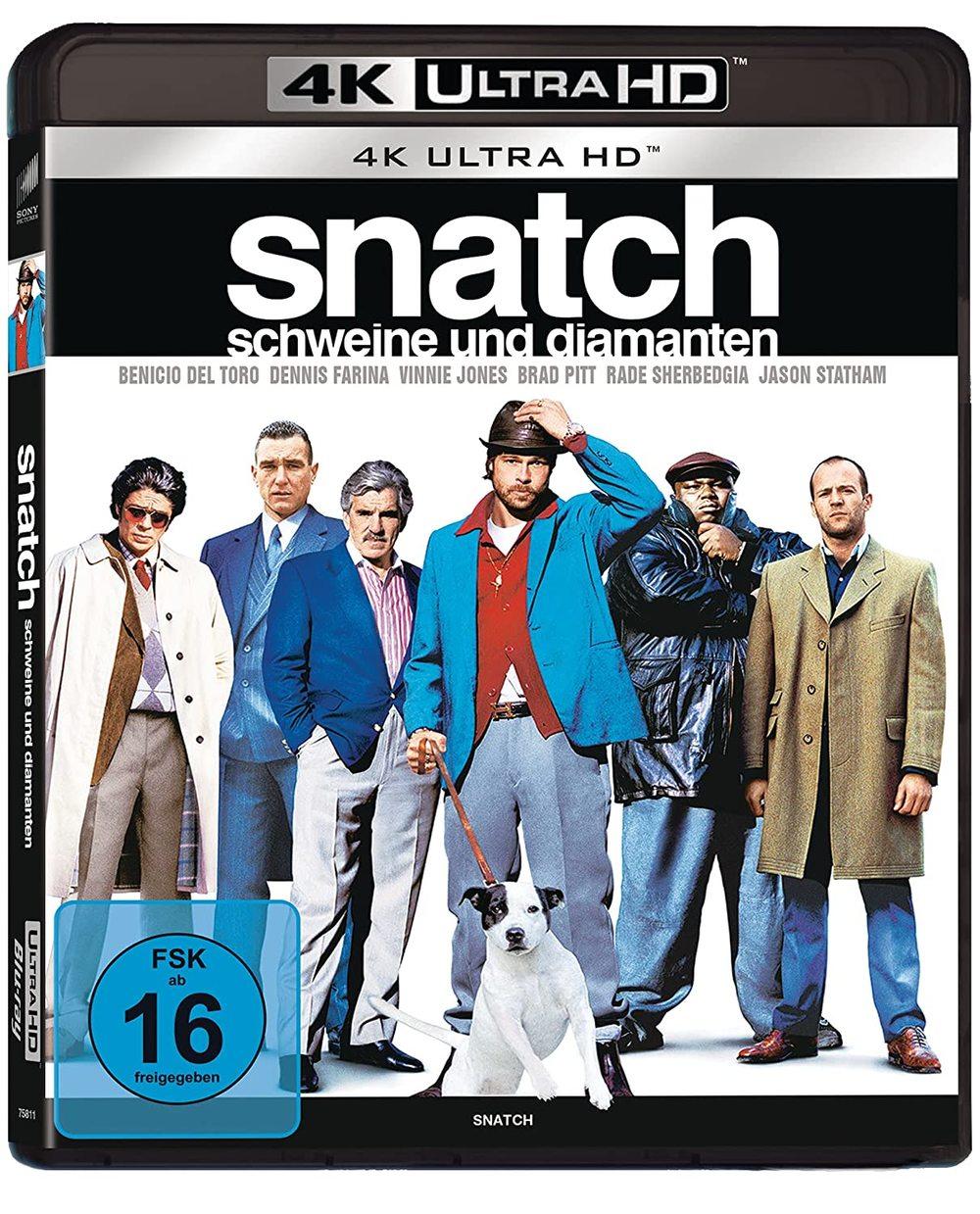 """Schnoddriger Gangsterspaß in 4K: Wir verlosen Guy Ritchies """"Snatch - Schweine und Diamanten"""" als 4K UHD"""