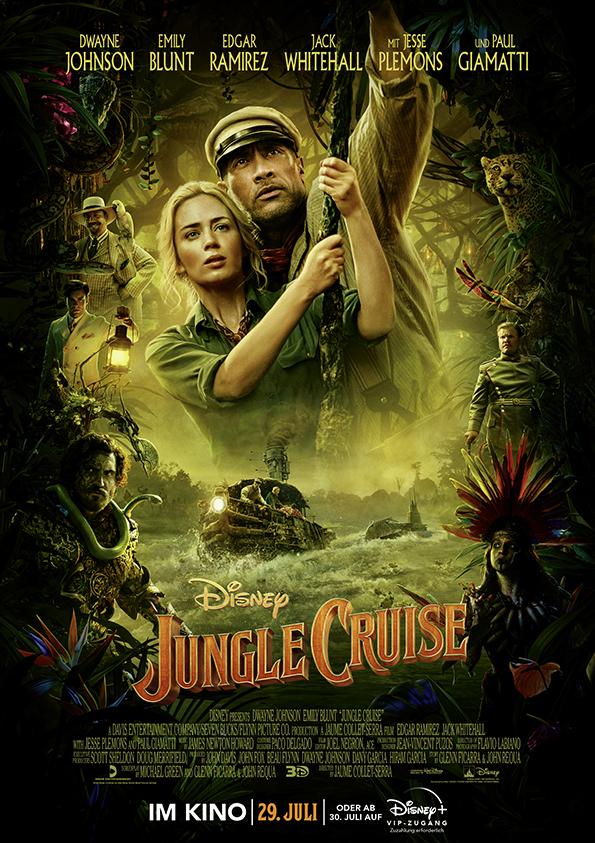 """Zum Kinostart von Disneys """"Jungle Cruise"""" mit Emily Blunt und Dwayne Johnson verlosen wir Fanpakete"""