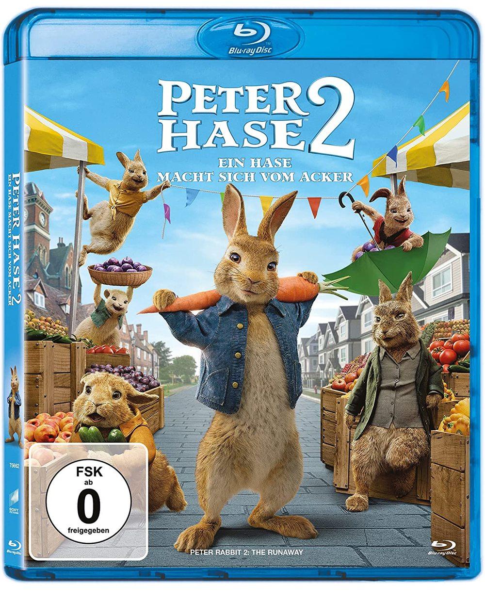 """Sein Name ist Hase: Wir verlosen """"Peter Hase 2: Ein Hase macht sich vom Acker"""" auf BD"""