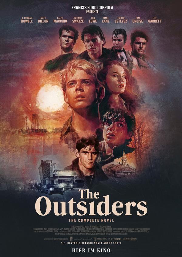 """Zum Start der BEST OF CINEMA Reihe: Wir verlosen die Poster der 4K restaurierten Version von """"Die Outsider"""" (02. November)"""